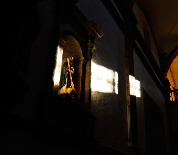 """The San Ignacio mission church was built over a period of about 55 years in the 1700s. It is still in use today. The priest discovered it from the local natives who called it """"Kadakaaman"""" meaning """"stream of reeds""""."""