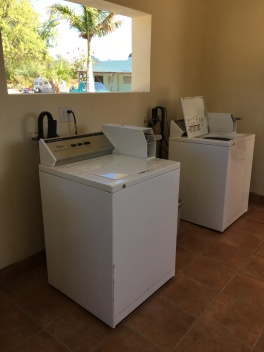 It is always great to find washing machines at an RV park...