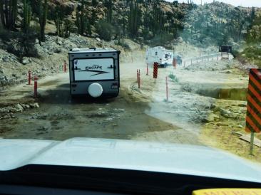 Road construction in Baja