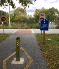 The end of the trail in Delaware City. From here we followed the canal to Battery Park.