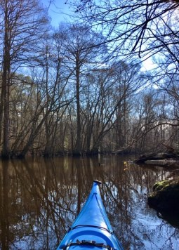 I love it when the sky matches my kayak!