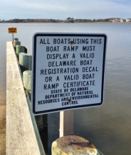 boat rules sign
